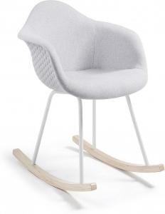 Стильное кресло качалка Kenna 63X71X79 CM светло-серое