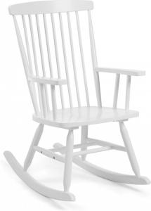 Кресло качалка из дерева гевеи Terence 56X78X98 CM белое