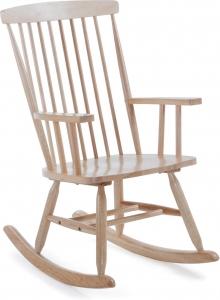 Кресло качалка из дерева гевеи Terence 56X78X98 CM натуральный цвет