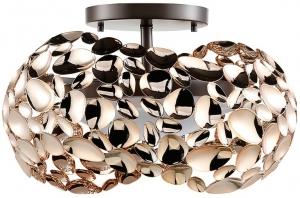Потолочный светильник Narisa 46X46X28 CM цвета розового золота