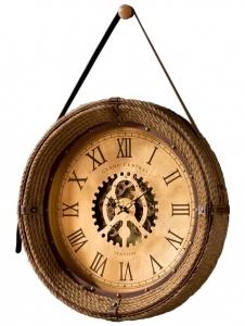 Часы в раме из пеньковой верёвки Brighton Ø76 CM