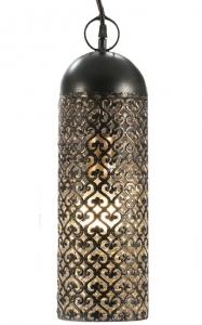 Подвесной светильник из чеканного металла Jamila 13X13X44 CM