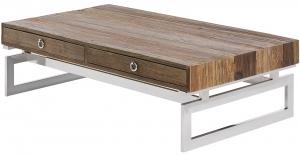 Журнальный столик из дерева и стали Milenia 140X80X41 CM