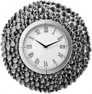 Настенные часы в раме из гранёных зеркал Verona Ø50 CM