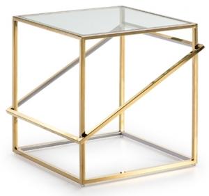Столик с LED подсветкой Moonlight 51X51X52 CM золотой
