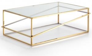 Столик с LED подсветкой Moonlight 110X70X38 CM золотой