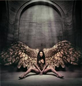 Постер на закаленном стекле Angel caido 100X100 CM