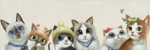 Картина Miau 150X50 CM