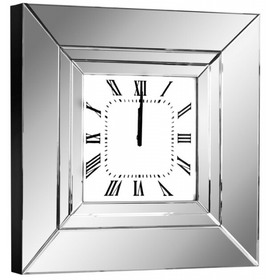 Часы настенные в раме из зеркал Lucy 60X60 CM 1