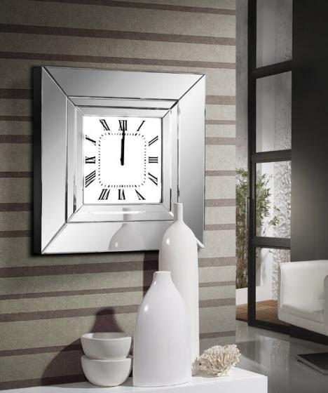 Часы настенные в раме из зеркал Lucy 60X60 CM 6