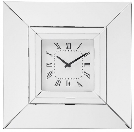 Часы настенные в раме из зеркал Lucy 60X60 CM 2