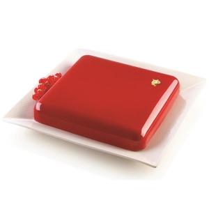 Форма для приготовления торта quadro 21 х 21 см силиконовая