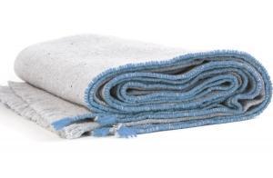 Одеяло из шерсти мериноса Sisteron 140X180 CM голубое