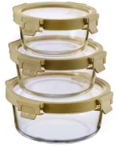 Набор из 3 круглых контейнеров для еды 400 / 650 / 950 ml