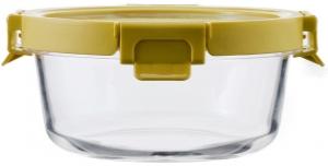 Контейнер для еды стеклянный 650 ml жёлтый