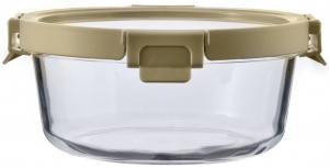 Контейнер для еды стеклянный 650 ml светло-бежевый