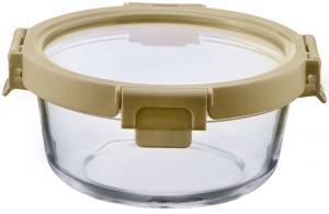 Контейнер для еды стеклянный 950 ml светло-бежевый