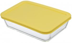 Контейнер для еды стеклянный 700 ml жёлтый