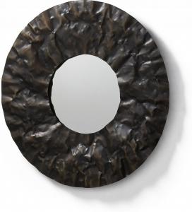 Круглое зеркало в металлической оправе Karlo Ø70 CM