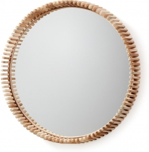Круглое зеркало в раме из тика Polke Ø85 CM