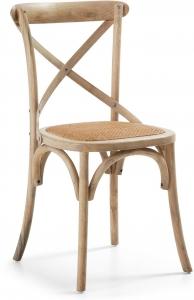 Деревянный стул с сидушкой из ротанга Alsie