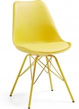 Стильный стул Lars 86X48X56 CM желтый