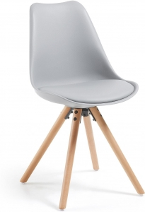 Стильный стул Lars 48X56X82 CM серый