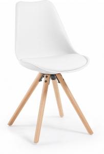 Стильный стул Lars 48X56X82 CM белый