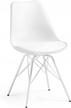 Стильный стул Lars 86X48X56 CM белый