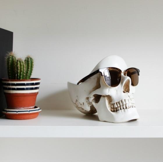 Органайзер для мелочей Skull 13X22X16 CM белого цвета 2