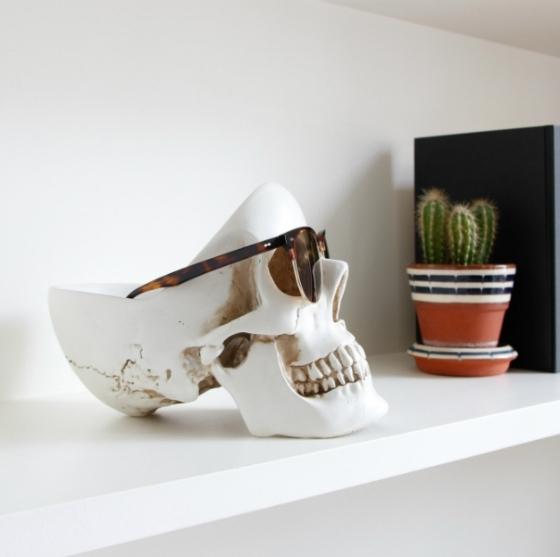 Органайзер для мелочей Skull 13X22X16 CM белого цвета 3
