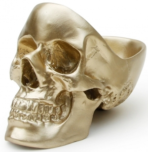 Органайзер для мелочей Skull 13X22X16 CM золотого цвета