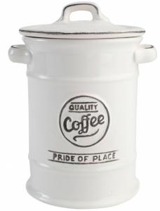 Ёмкость для хранения кофе Pride of Place 12X12X18 CM White