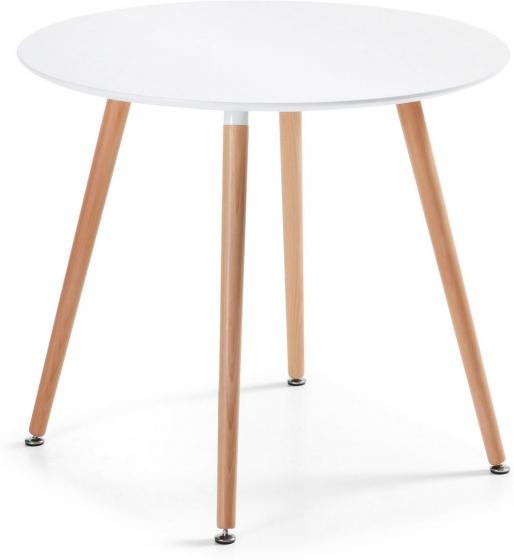 Круглый белый стол Wad 100X100X73 CM 1