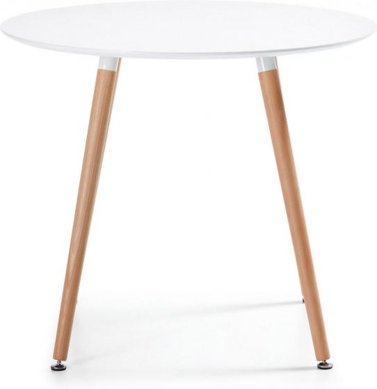 Круглый белый стол Wad 100X100X73 CM 2