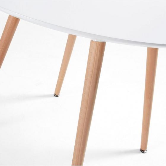 Круглый белый стол Wad 100X100X73 CM 3