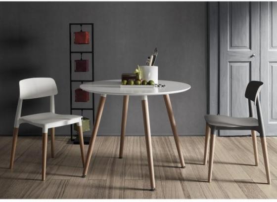 Круглый белый стол Wad 100X100X73 CM 4