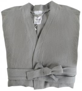 Халат из умягченного льна TK18 S серый