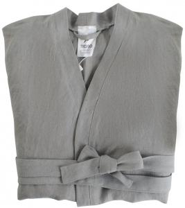 Халат из умягченного льна TK18 M серый