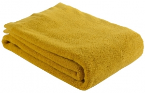 Полотенце банное 140X70 CM горчичного цвета