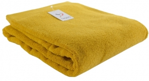 Полотенце банное 150X90 CM горчичного цвета