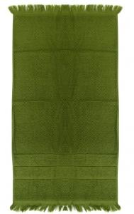 Полотенце для рук с бахромой 50X90 CM оливково-зеленого цвета