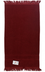Полотенце для рук декоративное с бахромой 50X90 CM бордового цвета