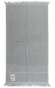 Полотенце для рук декоративное с бахромой 50X90 CM серого цвета