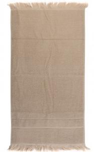 Полотенце для рук с бахромой 50X90 CM бежевого цвета