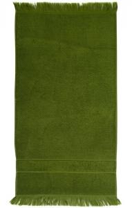 Банное полотенце с бахромой 70X140 CM оливково-зеленого цвета