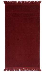 Банное полотенце с бахромой 70X140 CM бордового цвета