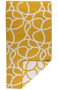 Жаккардовое полотенце Gravity 140X70 CM горчичного цвета