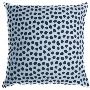 Чехол для подушки из хлопка Funky Dots 45X45 CM серо-голубой