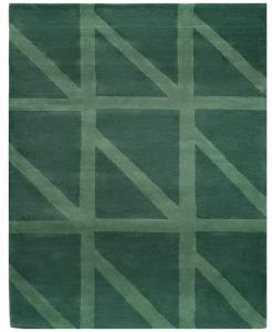 Ковер шерстяной Geometric Dance 230X160 CM зеленого цвета